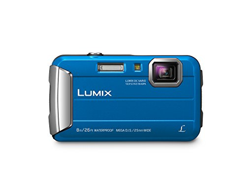 PANASONIC LUMIX Waterproof Digital Camera Underwater Camcorder with Optical Image Stabilizer, Time Lapse, Torch Light and 220MB Built-In Memory - DMC-TS30A (Blue) (Digital Camera Waterproof Olympus)