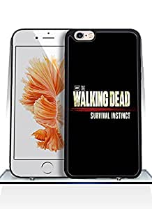 Iphone 6 Plus Funda Case- Plastic Hard Quote The Walking Dead Logo [Perfect Fit] & [Shock-Absorption] Iphone 6 6S Plus (5.5 Inch) Funda Case For The Girls