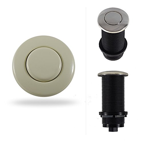 Garbage Disposal Sink Top Air Switch Button for Thicker and Standard Counter Tops. Available in 25+ Finishes Matching any Faucet. Universal Fit Unit. MODEL # ASBO (Extended 3-Inch, Biscuit) -