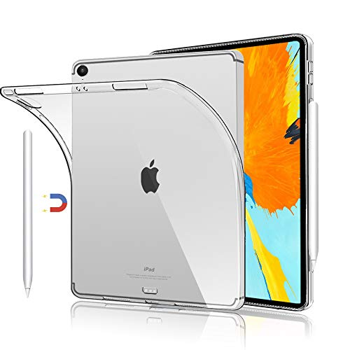 Case for iPad Pro 11 inch 2018 Release, Support Apple Pencil Wireless Charging, Slim Lightweight TPU Silicon Protective Cover Compatible with 2018 iPad Pro 11