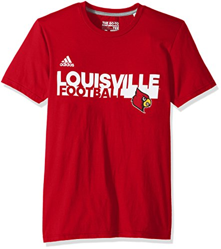 NCAA Louisville Cardinals Adult Men Sideline Grind Football Go-to Performance S/Tee, Large, Power ()