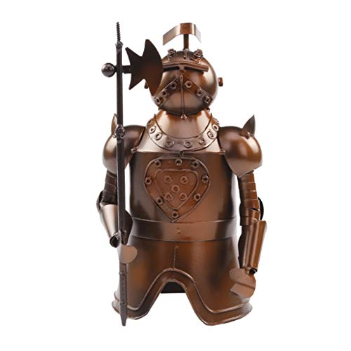 MSchunou Let your home add more creativity and fun samurai style wine rack bar decoration, wrought iron materials health and environmental protection, handmade wrought iron production, metal retro cre -