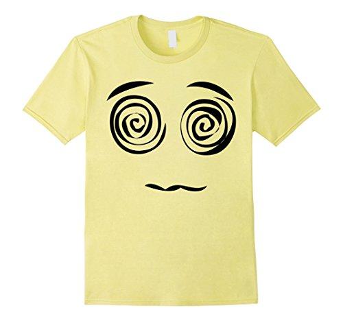 Men's Emoji Shirt With Crazy Swirly Eyes Halloween Costume Shirt Large (Crazy Eyes Halloween)