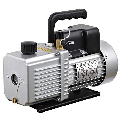 Vakuumpumpe mit 2 Spannungen, 110-220 V, 4,5 CFM, 2 Stufen 1/2 PS HVACR