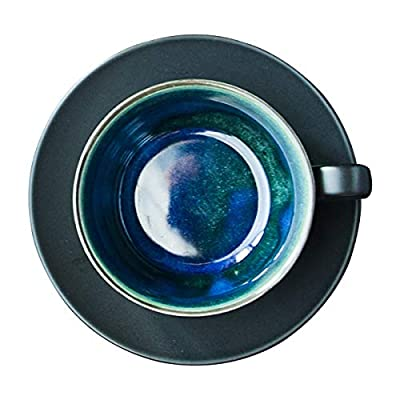 Handmade Porcelain Coffee Tea Mug-Ceramic Creative Natural Color Glaze Clay Water Cup