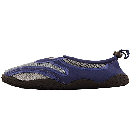 Einfacher USA-Männer Beleg auf Aqua-Socken-Wasser-Schuhen Grau Blau