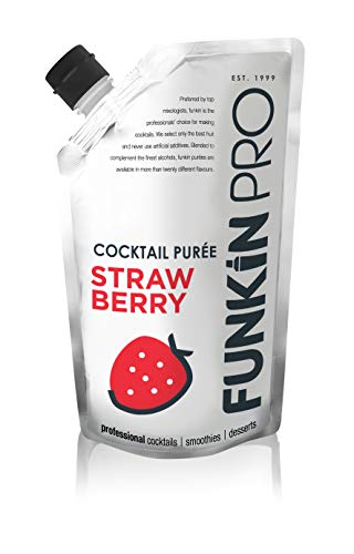 Funkin Strawberry Puree | Real Fruit, Two Ingredient, Natural Mixer for Cocktails, Drinks, Smoothies | Vegan, Non-GMO, Gluten-Free (2.2 lbs)