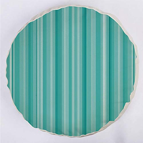 Round Decorative Throw Pillow Floor Meditation Cushion Seating/Abstract Ocean Inspired Palette Lines Geometrical Image Decorative/for Home Decoration 17
