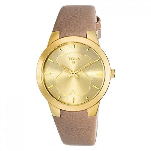 Reloj Tous de Mujer B-Face Dorado con Correa Piel 400350120: Amazon.es: Relojes
