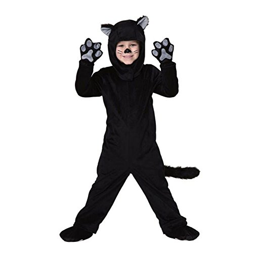 Ladies Black Cat Halloween Costumes (Halloween Black Cat Costume Womens Adult Kid Jumpsuit Cosplay Costume Suit,Childrens Cat Jumpsuit Medium)