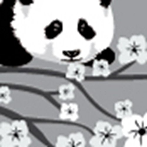 Flowering Branch Decals, Panda Wall Decals, Tree Wall Décor