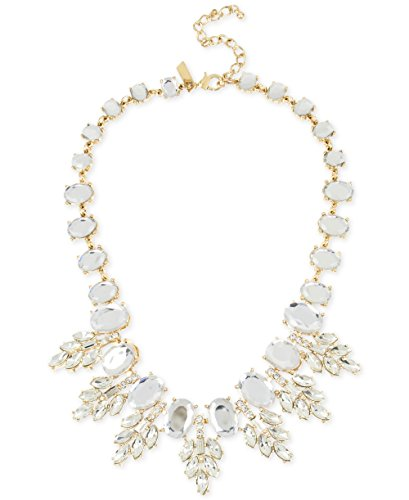 M Haskell for INC Elegant Oval Crystal Drama Statement Necklace