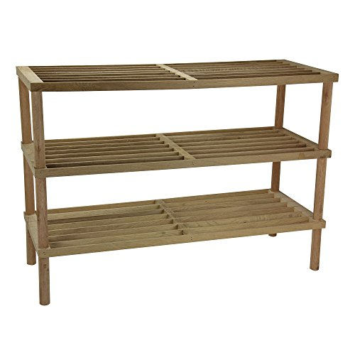 Household Essentials 3 Tier Barnwood Finish