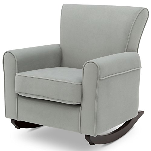 Delta Children Lancaster Rocking Chair Featuring Live Smart Fabric, Mist (Rocker Childs Upholstered)