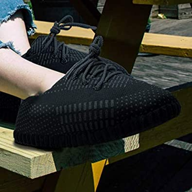 Trendy Design |Yeezy Slippers 2020 /… SoleSlip Sneaker Slippers Perfect for Lounging Pure Polyester Men and Women Comfy and Cozy One Size Fits All
