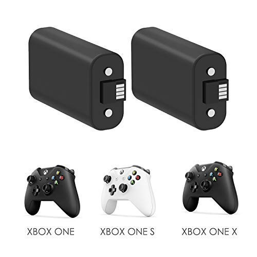 YCCTEAM Xbox One Controller Battery Pack, 2PCS x 1200 mAh Rechargeable Battery and 5FT Micro USB Charging Cable for Xbox One/Xbox One X/Xbox One S Wireless Controllers