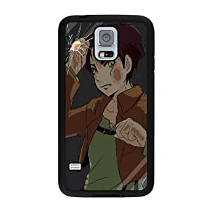 Generic Fashion Hard Back Case Cover Fit for Samsung Galaxy S5 Cell Phone Case black Japanese cartoon animation STR-3305318