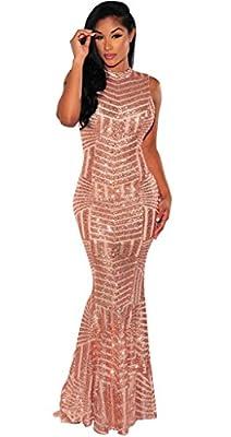 Women Short Sleeve Deep V-Neck Sequin Split Bodycon Cocktail Party Dress