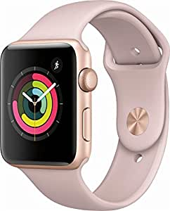 Apple Watch Series 3 (GPS), 42mm Gold Aluminum Case with Pink Sand Sport Band - MQL22LL/A (Certified Refurbished)