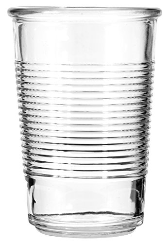 Anchor 16 Ounce Tumbler - Anchor Hocking Vintage All Purpose Drinking Glasses, Sigma Patterned, 16 oz (Set of 6)