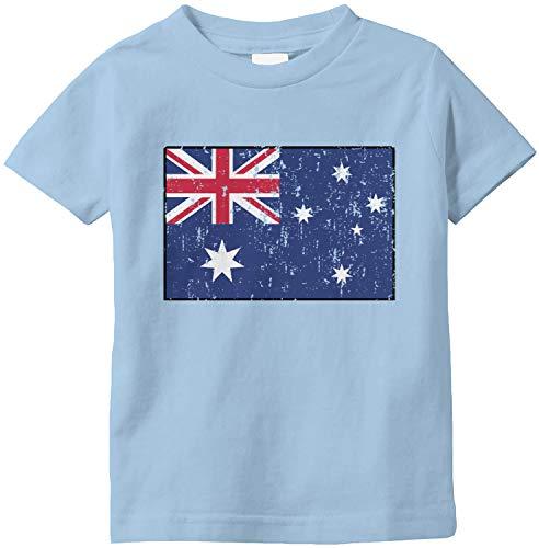 Amdesco Australia Flag Australian Infant T-Shirt, Light Blue 6 Month