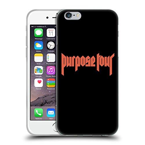 Officiel Justin Bieber Logo Marchandises De Tour Étui Coque en Gel molle pour Apple iPhone 6 / 6s
