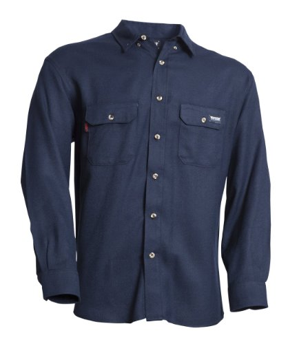 81474ae6cba Tecgen Select FR Navy 5.5 oz Dress Uniform Shirt Flame Resistant ...