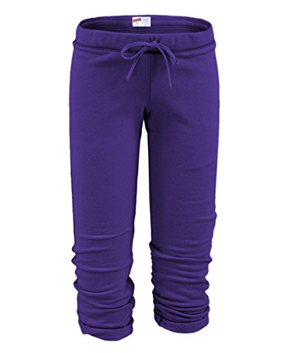 Soffe Womens The Training Capris Purple L