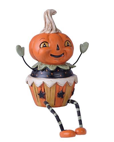 (Transpac Imports D0821 Resin Halloween Cupcake Mate Sitter Figurine, Orange)