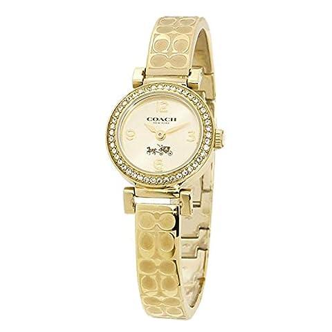 COACH Women's Madison Fashion Bangle Watch Gold/Gold Watch (Coach Women Gold Watch)