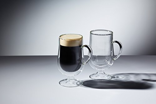 KitchenCraft Le 'Xpress Isolierte doppelwandige Irish Coffee-Gläser, 275ml (2Stück)