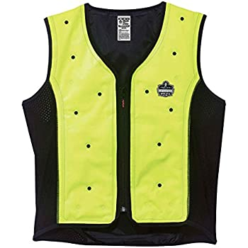 Evaporative Cooling Vest, Wearer Stays Cool and Dry, Breathable Comfort, Zipper Closure, Ergodyne Chill-Its 6685