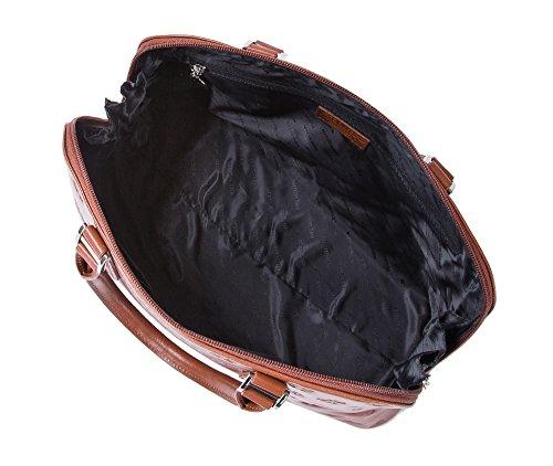 WITTCHEN Borsa classica, Cognac - Dimensione: 26x36cm - Materiale: Pelle di grano -Accomoda A4: Si - 33-4-010-5L