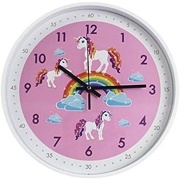 TOHOOYO Pink Wall Clock,Silent Non Ticking Childrens Décor Quiet Clocks for Kids Room,Office,School,Bedroom,Kitchen,Classroom (12 inch Pink)