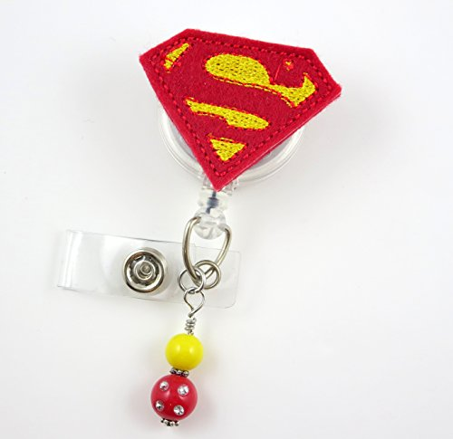 Super Hero - Nurse Badge Reel - Retractable ID Badge Holder - Nurse Badge - Badge Clip - Badge Reels - Pediatric - RN - Name Badge Holder