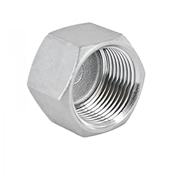 Tapón de rosca de racor roscado fabricado en acero inoxidable V4A