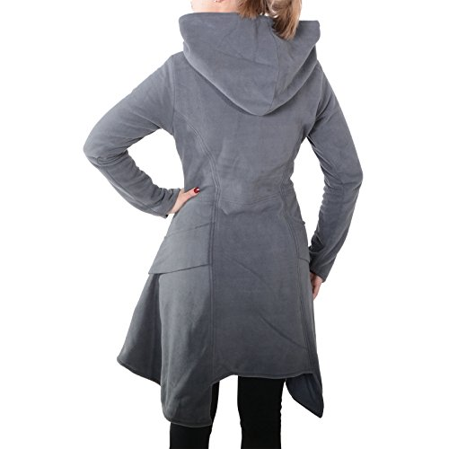 Kunst Magie Chaqueta und para Gris Trenca Mujer HHq7Brwp