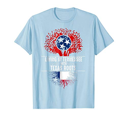 Tennessee Home Texas Roots State Tree Flag Shirt Love Gift