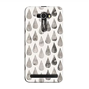Cover It Up - White Dark Drops Zenfone Selfie Hard case