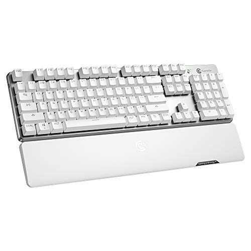 2.4GHz Bluetooth 4.1 Wireless Gaming Keyboard GameSir GK300, TTC Mechanical Red Switches Game Keyboard Aluminium Alloy 104 Standard Keys
