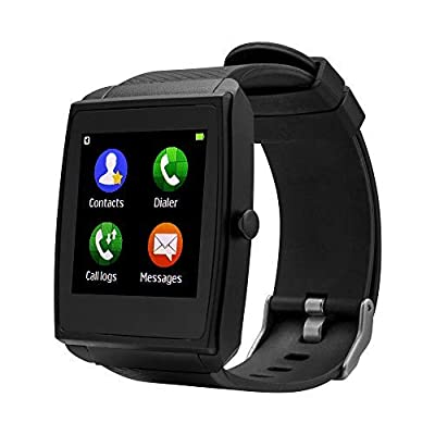 Bebinca Touch Screen Bluetooth Smart Watch,Activity Tracker,Compatible iOS Android,Blood Pressure and Heart Rate Monitor,Pedometer,One Size