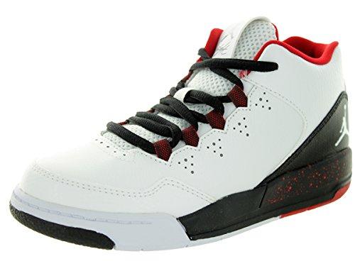 Nike Jordan Kids Jordan Flight Origin 2 (PS) White/White/Black/Gym Red Basketball Shoe 3 Kids US