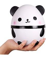 Anboor Squishies Panda Egg Jumbo Squishy Slow Rising Squeeze Toys Geurende Kawaii Squishies Animal Toy voor kinderen Volwassenen 1 stuk (wit)