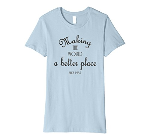 Womens 60th birthday gift shirt 1957 for women turning 60 years old Large Baby Blue