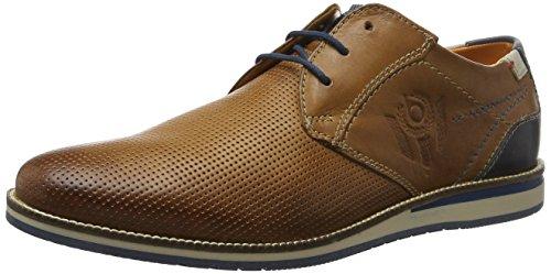 Bugatti 311256021000, Zapatos de Cordones Derby para Hombre Marrón (Cognac 6300)