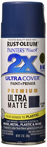 RUST-OLEUM 331183 Painters Touch 2X 12 OZ Evening Navy Matte Spray Paint