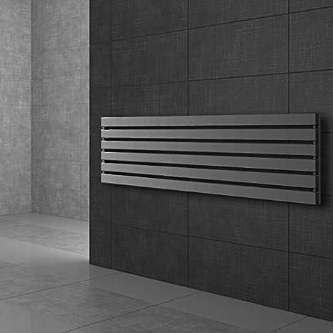 Pour Salle de Bain 480 x 1600 mm ECD Germany Stella Design Radiateur S/èche-Serviettes Vertical Radiateur S/èche Serviette Design Panneau Plat Anthracite Pas /électrique