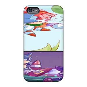 Shock-Absorbing Hard Phone Case For Apple Iphone 6 (FQd1913nOZm) Support Personal Customs Lifelike Sonic Cd Take Two Pattern