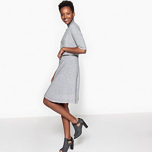Rollkragen Grau Meliert Ausgestelltes Kleid Redoute Frau La Collections XOBwqv4WwY