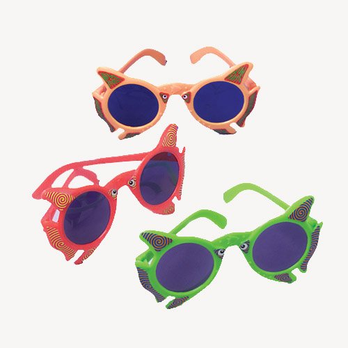 Lot Of 12 Assorted Color Fish Theme Child Size - Sunglasses Fish